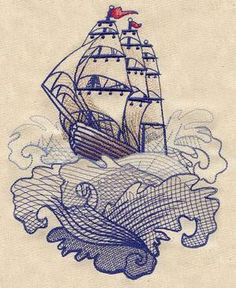The Seven Seas - Ship Tattoo_image