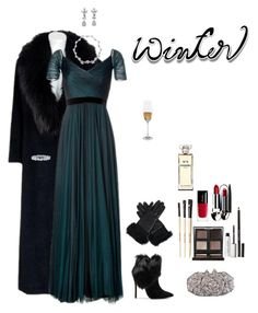 """Why not dress up?"" by shulabond ❤ liked on Polyvore featuring Sorelle Fontana, Jenny Packham, Harry Winston, Schutz, Otazu, UGG Australia, Guerlain, Bobbi Brown Cosmetics, Chanel and Michael Wainwright"