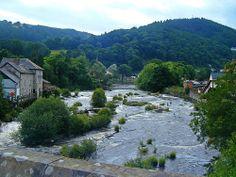 River Dee, Llangollen, Denbighshire, Wales.