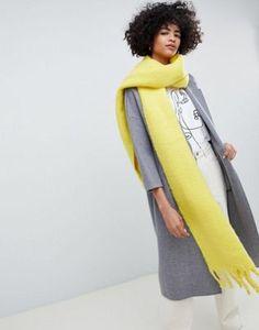 5283f2e9d7e ASOS DESIGN bright fluffy tassel scarf Fall Trends