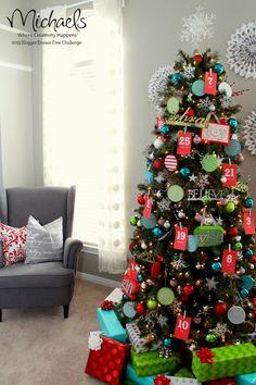 Advent Christmas Tree by @Kristyn {lilluna.com}  {lilluna.com} #JustAddMichaels