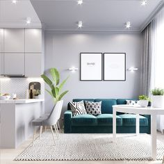 Beautiful Comfy Living Room Design Ideas - Page 44 of 63 - VimTopic Small Apartment Interior, Small Apartment Kitchen, Small Space Interior Design, Home Design Decor, Apartment Design, House Design, Home Decoration, Design Ideas, Kitchen Room Design