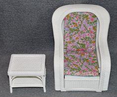 Barbie Rattan de Luxe Möbel Wohnzimmer Couch Sessel 80er 90er Jahre ...