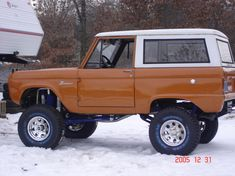 Image result for lifted uncut bronco