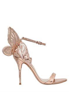 SOPHIA WEBSTER - 100MM CHIARA METALLIC LEATHER SANDALS - SANDALS - GOLD -  LUISAVIAROMA. Zapatos · Zapatos De Otoño · Zapatos De Mujer ... 730d2ae9e09