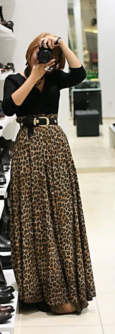Leopard Print Maxi