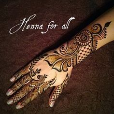 henna for all Mehndi Designs 2018, Modern Mehndi Designs, Mehndi Designs For Beginners, Wedding Mehndi Designs, Beautiful Henna Designs, Mehndi Designs For Hands, Henna Tattoo Designs, Mehandi Designs, Tattoo Ideas