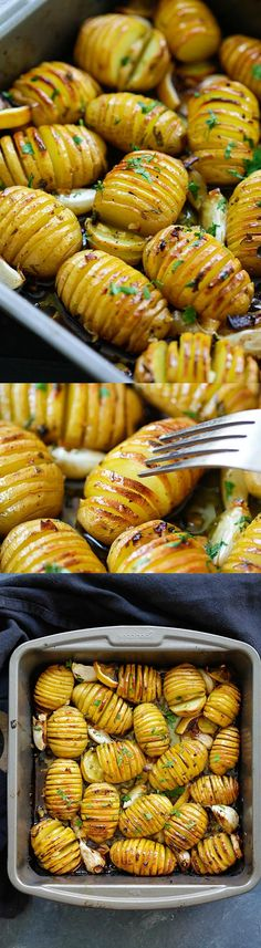 Lemon Herb Roasted Potatoes – BEST roasted potatoes you'll ever make, loaded with butter, lemon, garlic and mins active time! Potato Recipes, Vegetable Recipes, Vegetarian Recipes, Cooking Recipes, Healthy Recipes, Smoker Recipes, Barbecue Recipes Vegetables, Cadac Recipes, Bbq Recipes Sides