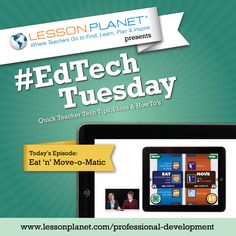 #EdTech Tuesdays | Dec 10, 2013 | Eat 'n' Move-o-Matic—The perfect app for a one-time reality check/health lesson about caloric intake and physical activity ratios.