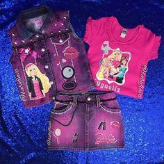 Vest and denim shorts/ skirt set (Boys/ Girls) Baby Alive Doll Clothes, Toddler Schedule, Kid Swag, Little Diva, Toddler Discipline, Matching Shirts, Custom Clothes, Diy Clothes, Child Models
