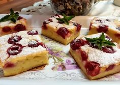 Meggyes-túrós gyors sütike🍒☕🍷 | Andi1980 receptje - Cookpad receptek Strawberry Cakes, Cookie Recipes, French Toast, Cheesecake, Food And Drink, Sweets, Cookies, Vaj, Cooking