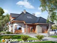 Dom w sansewieriach Home Fashion, Planer, House Plans, Home And Garden, House Design, Contemporary, House Styles, Bedrooms, Houses