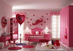 decoração Pink Bedroom Design, Pink Bedroom For Girls, Girls Room Design, Pink Bedrooms, Teenage Girl Bedrooms, Girl Bedroom Designs, Pink Room, Little Girl Rooms, Room Girls