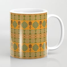 Available in 11 and 15 ounce sizes, our premium ceramic coffee mugs feature wrap-around art and large handles for easy gripping. Dishwasher and microwave safe, these cool coffee mugs will be your new favorite way to consume hot or cold beverages. #society6 #design  #mugs #africanprint