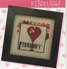 Joyful Journal February is the title of this cross stitch pattern from Heart In Hand and is part of the series titled Joyful Journal from this designer. Cross Stitch Needles, Cross Stitch Heart, Cross Stitch Kits, Cross Stitch Patterns, Cross Stitching, Cross Stitch Embroidery, Plastic Canvas Crafts, So Little Time, Valentines