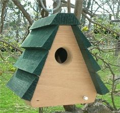 The Songbird Essentials Wren- A-Frame Bird House boasts a sturdy design constructed from western red cedar. Wren House, Lake George Village, Bird House Kits, Bird House Plans Free, Bird Aviary, Cottage In The Woods, How To Attract Birds, Thing 1, Kit Homes