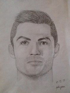 A great drawing of Cristiano Ronaldo, CR7