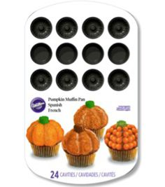 Mini Muffin Pan-Pumpkin 24 Cavity