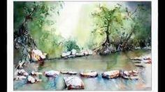 aquarell landschaft - YouTube