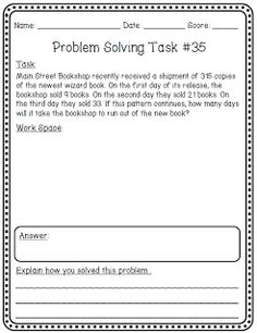 Collection of 50 Problem Solving Tasks (to support the Common Core Standards for Mathematical Practice)