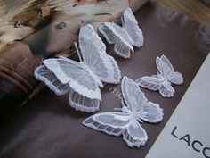 """Online Shop """"The dream"""" translucence double-deck butterfly Patch Applique embroidery Wedding dress adornment (Stick) Fabric Butterfly, Butterfly Embroidery, Embroidery Patches, Embroidery Applique, Butterfly Decorations, Wedding Decorations, Wedding Ideas, Butterfly Wedding Dress, Cheap Patches"""
