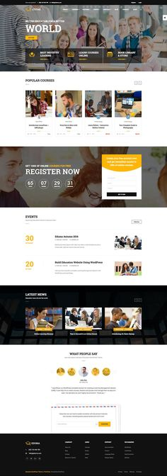 Education WP is a stunning Education WordPress Theme built with LearnPress LMS… Web Ui Design, Page Design, Blog Design, Design Design, Graphic Design, Website Layout, Web Layout, Website Design Inspiration, Maquette Site Web