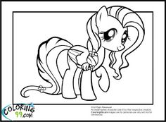 My Little Pony Coloring Pages Fluttershy Equestria Girls http