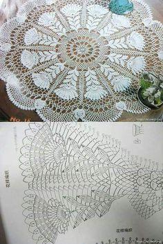Baby Knitting Patterns, Doily Patterns, Crochet Doilies, Crochet Lace, Crochet Stitches, Crochet Diagram, Crochet Earrings, Tapestry, Crochet Edgings