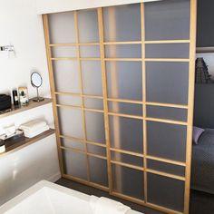 Une cloison amovible style japonisant, Castorama