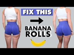 FIX YOUR UNDER BUTT FAT LINES (BANANA ROLLS) With This Workout Routine | Thigh Fat Workout At Home