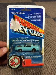 NOC/NEW RARE VINTAGE 1980 KIDCO TOUGH WHEELS BLUE FIREBIRD TURBO BURNIN KEY CARS #KIDCO #FirebirdTurbo