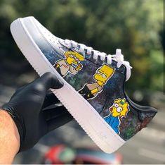 Custom painted simpsons nike air force ones Nike Shoes Air Force, Nike Air Force Ones, Painted Sneakers, Painted Shoes, Custom Sneakers, Custom Shoes, Sneakers Fashion, Fashion Shoes, Tenis Vans