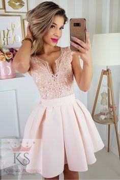 7cac5b96ba Sukienka z motylkiem łosoś - Królowa Shoppingu
