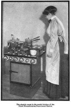 """A model kitchen"": Images of vintage kitchens, appliances, etc."