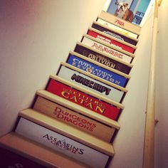 My amazing friend Rachel created this for the steps that lead down to the family's game room. :o)
