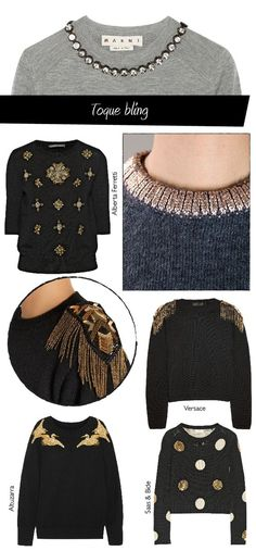 Dare to DIY: Inspiración DIY: customiza tus jerséis . - Do it my self Fashion Details, Diy Fashion, Womens Fashion, Fashion Design, Stoff Design, Diy Vetement, Diy Mode, Clothing Hacks, Diy Dress