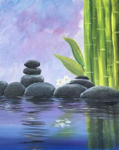 We host painting events at local bars. Come join us for a Paint Nite Party! Zen Painting, Easy Canvas Painting, Canvas Art, Painting Lessons, Canvas Ideas, Wine And Canvas, Pastel Art, Nature Paintings, Acrylic Art