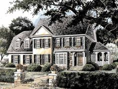 Cottage House Plan with 2835 Square Feet and 4 Bedrooms from Dream Home Source | House Plan Code DHSW53245