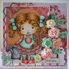 From our Design Team! Card by Anne-Maree Campbell featuring Garden Marci and these Dies - Love to Garden, Honeycomb, Berry Flourish, Heart Fence, Stitched Elements :-) Shop for our products here - shop.lalalandcrafts.com  Coloring details and more Design Team inspiration here - http://lalalandcrafts.blogspot.ie/2015/05/inspiration-monday-colour-inspiration.html