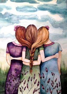 the three sisters art print