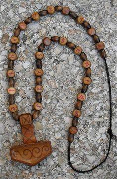Thor's hammer and runes                                                       …