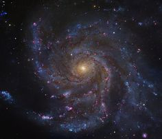 Messier 101 Credit: Hubble Legacy Archive, ESA, NASA; Processing and additional imaging - Robert Gendler Big, beautiful spiral galaxy M101 is one of the last entries in Charles Messier's famous catalog, but definitely not one of the least. About 170,000 light-years across, this galaxy is enormous, almost twice the size of our own Milky Way galaxy. M101 was also one of the original spiral nebulae observed by Lord Rosse's large 19th century telescope, the Leviathan of Parsontown.