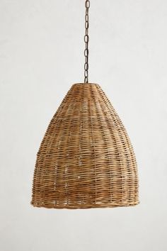 Basket-Weave Pendant Lamp