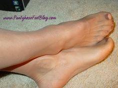 Pantyhose Feet - close up sheer pantyhose feet