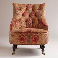 Venice Paisley Erin Chair | Living Room Furniture| Furniture | World Market