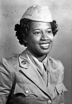 WAC Audrey Meyers circa 1944.  She served as a medical technician at Halloran General Hospital in New York City from 1944-1945.