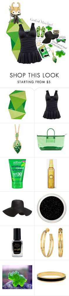 """""""Loki (at the beach)"""" by krgood7 ❤ liked on Polyvore featuring Vertty, Palm Beach Jewelry, Stephanie Johnson, ALBA, Sun Bum, Old Navy, Barry M, Tory Burch, Halcyon Days and Ippolita"""