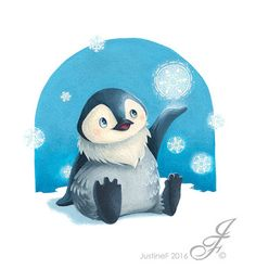 Frozen Penguin Art Print by JustineF - X-Small Penguin Art, Tweety, Penguins, Sonic The Hedgehog, Snowflakes, Disney Characters, Fictional Characters, Have Fun, Frozen