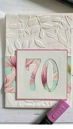 Change up colors and embossing folder for dad Change up colors and embossing folder for dad 70th Birthday Card, Handmade Birthday Cards, Happy Birthday Cards, Greeting Cards Handmade, Birthday Cards For Women, Bday Cards, Cricut Cards, Embossed Cards, Card Sketches