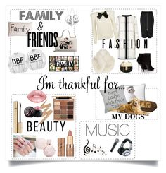 """""""I'm Thankful For...."""" by fashionistamummy83 ❤ liked on Polyvore featuring Dolce&Gabbana, Thro, Benzara, Panasonic, PBteen, Park B. Smith, River Island, L.K.Bennett, Yves Saint Laurent and tarte"""